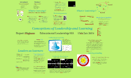 Conceptions of Leadership and Learning