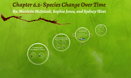 Chapter 6.2- Species Change Over Time