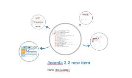 Joomla 3.2 new item