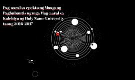 Pag-aaral sa epekto ng Maagang Pagbubuntis ng mga Mag-aaral