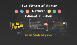 """""""The Fitness of Human Nature"""""""