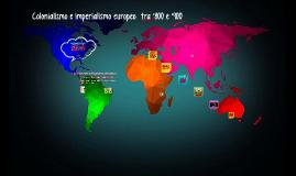 Colonialismo e imperialismo tra '800 e '900