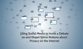 Using Social Media to Incite a Debate on and Dispel Some Not