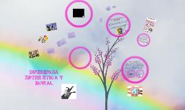 Copy of DIFERENCIA ENTRE ÉTICA Y MORAL