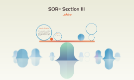 SOR- Section III
