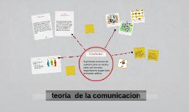 teoria  de la comunicacion