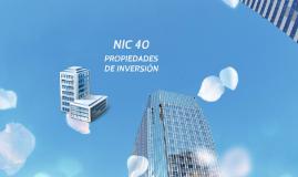 Copy of NIC 40 - PROPIEDADES DE INVERSIÓN