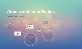 Copy of Atomic and Ionic Radius