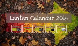 Lenten Calendar 2014