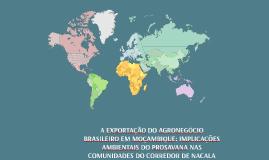 Copy of A Exportação do Agronegócio Brasileiro em Moçambique