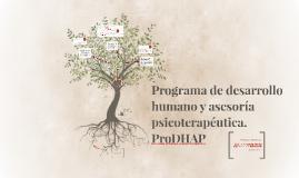 Programa de desarrollo humano y asesoría psicoterapéutica.