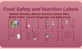 Food Safety and Nutrition Labels