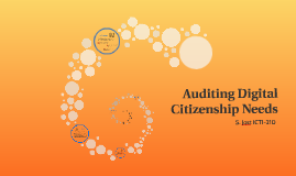Auditing Digital Citizenship Needs