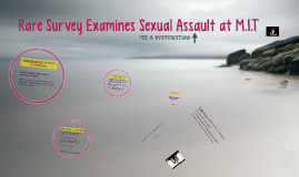 Rare Survey Examines Sexual Assault at M.I.T