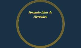 Formato plan de Mercadeo