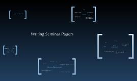 Writing Seminar Papers