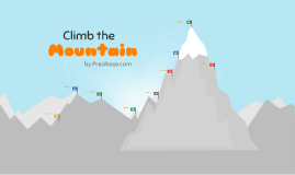 Copy of Climb the Mountain - Prezi Template