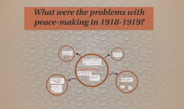 What were the problems with peace-making in 1918-1919?