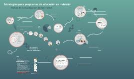 Estrategias para programas de educación en nutrición