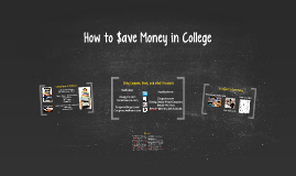 How to $ave Money in College