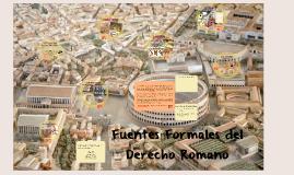 Fuentes Formales del Derecho Romano