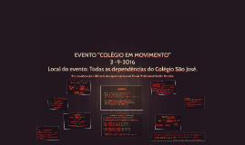 """EVENTO """"COLÉGIO EM MOVIMENTO"""""""