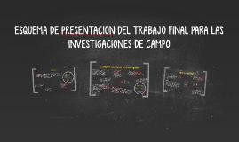 ESQUEMA DE PRESENTACION DEL TRABAJO FINAL PARA LAS INVESTIGA