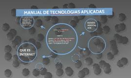 MANUAL DE TECNOLOGIAS APLICADAS
