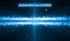 ¿Cuántos libros hay en la Biblia?