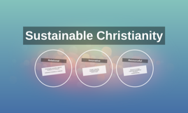 Sustainable Christianity