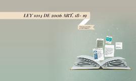 LEY 1014 DE 2006 ART. 18- 19