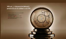 MF1446_3: Orientación laboral y promoción de la calidad en l