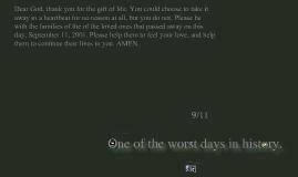 NOLAN'S PROJECT ON 9/11/01