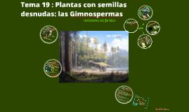 2017. Plantas con semillas desnudas . Gimnospermas (T19) para Biotecnología