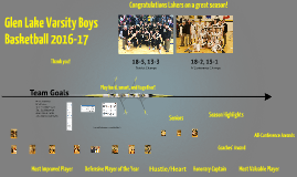 Glen Lake Boys Basketball 16-17