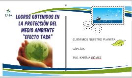 """logros obtenidos en la protección del medio ambiente - """"efec"""