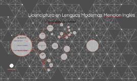 Licenciatura en Lenguas Modernas Mencion Inglés