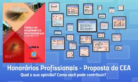 Honorários Profissionais - Proposta do CEA