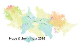 Hope & Joy - India 2016