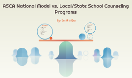 ASCA National Model vs. Local/State School Counseling Progra
