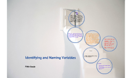Identifying and Naming Variables