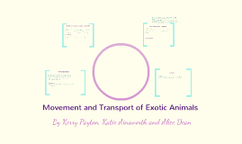 Copy of Movement and Transport of Exotic Animals
