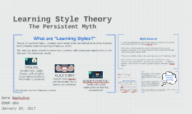 Persistent Myth: Learning Styles