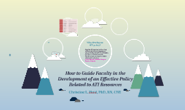 Tips for Developing an Effective Policy Related to ATI Resou