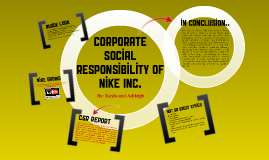 Corporate Social Responsibility of Nike