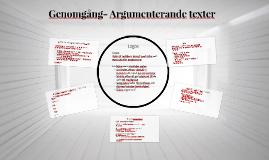 Genomgång- Argumenterande texter