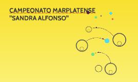 "CAMPEONATO MARPLATENSE  ""SANDRA ALFONSO"""