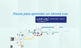 Pasos para aprender un idioma con Kaplan