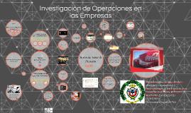 Investigacion de Operaciones en las Empresas