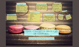 TEMA: CONCEPTOS GENERALES DE AUDITORIA.